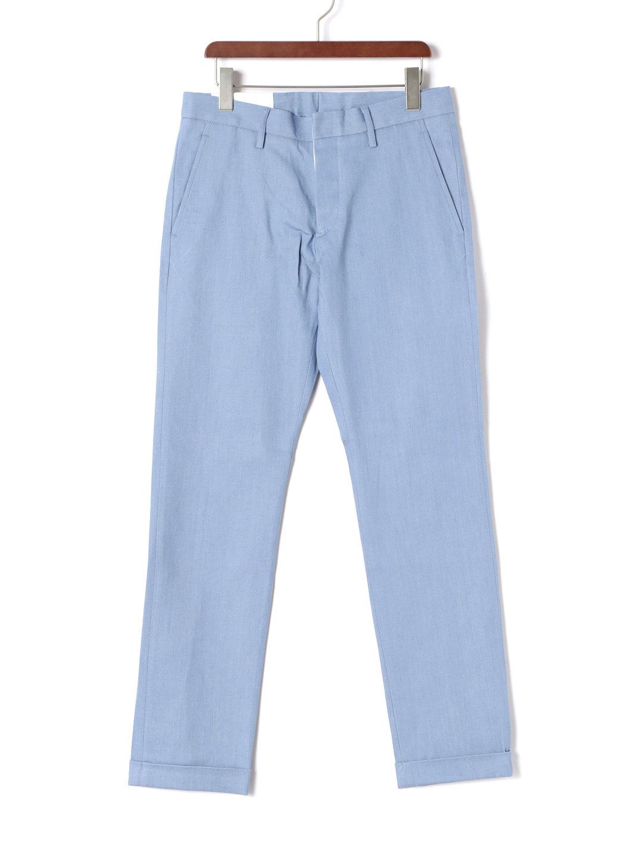 【80%OFF】Pen スリムパンツ サックス 31 ファッション > メンズウエア~~パンツ