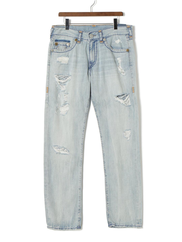 【70%OFF】GENO NO FLAP SUPER T ヴィンテージ加工 ステッチ デニム ライトブルー 31 ファッション > メンズウエア~~パンツ