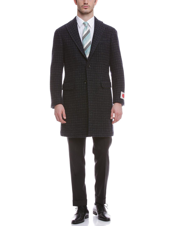 【65%OFF】ハウンドトゥース チェスターフィールドコート グレーミックス 50 ファッション > メンズウエア~~ジャケット