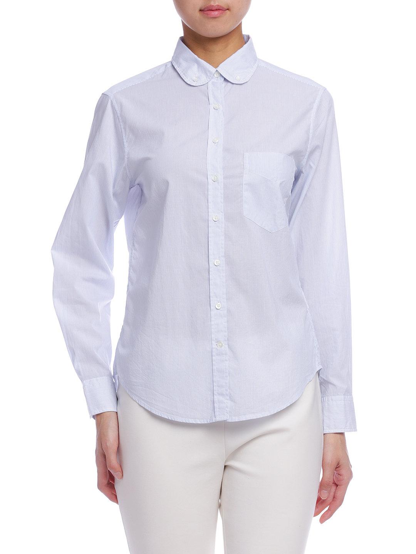 【70%OFF】GAru-L R. ボタンダウン ラウンドカラー 長袖シャツ ブルー xs ファッション > レディースウエア~~その他トップス