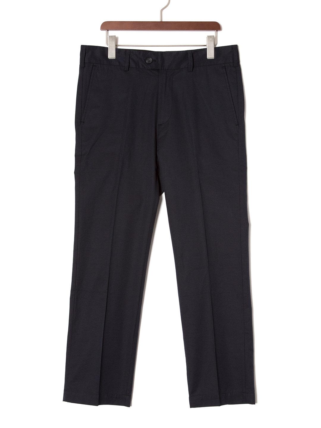 【70%OFF】PANOS フロントタブ センタープレス パンツ ブラック 32 ファッション > メンズウエア~~パンツ