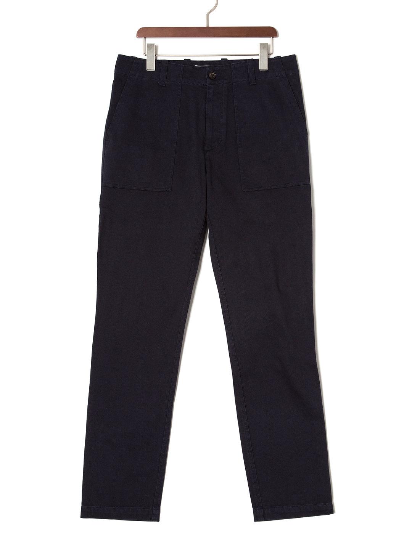 【70%OFF】FATIGUE テーパードパンツ ネイビー 28 ファッション > メンズウエア~~パンツ