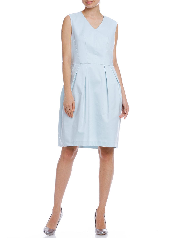 【80%OFF】WAミュートスストレッチ タック コクーンドレス ブルー 44 ファッション > レディースウエア~~ワンピース