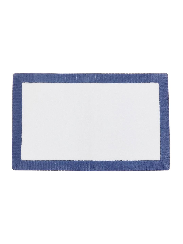 【63%OFF】メモリフォーム リブボーダー バスマット Lサイズ ブルー/ホワイト キッチン・生活雑貨・日用品 > 暮らし~~お風呂用品~~バスマット