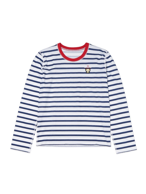 【50%OFF】LPFC セーラースカル ボーダー 長袖Tシャツ ホワイトxネイビー m ファッション > レディースウエア~~その他トップス
