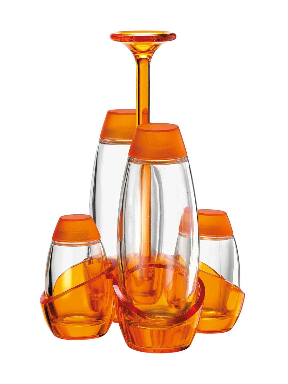 【71%OFF】MURANO オイル&ビネガーボトルソルト&ペッパー セット オレンジ フード > 製菓材料~~その他