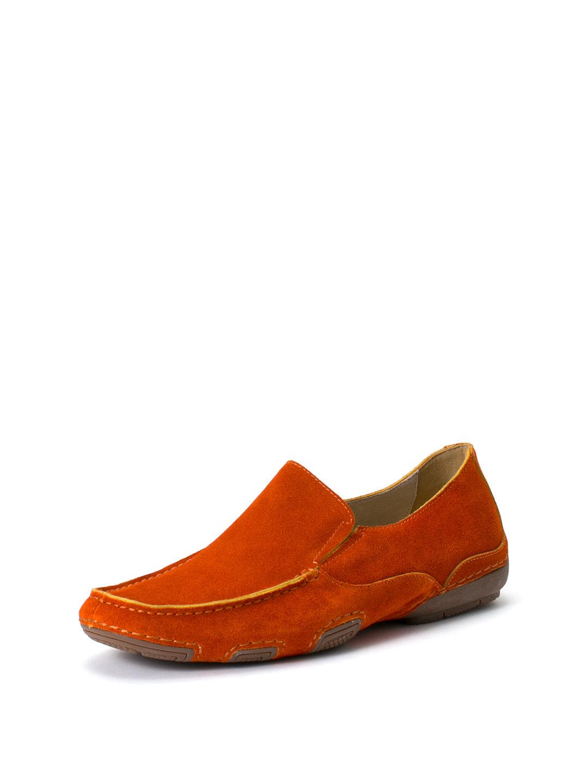 【63%OFF】スエード 配色 ドライビングシューズ オレンジ 25 ファッション > 靴~~メンズシューズ