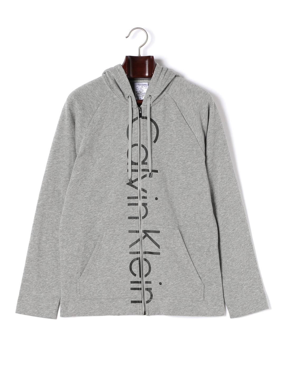 【30%OFF】Calvin Klein Soft Sleep ジップアップ パーカ グレー 5 ファッション > メンズウエア~~その他トップス