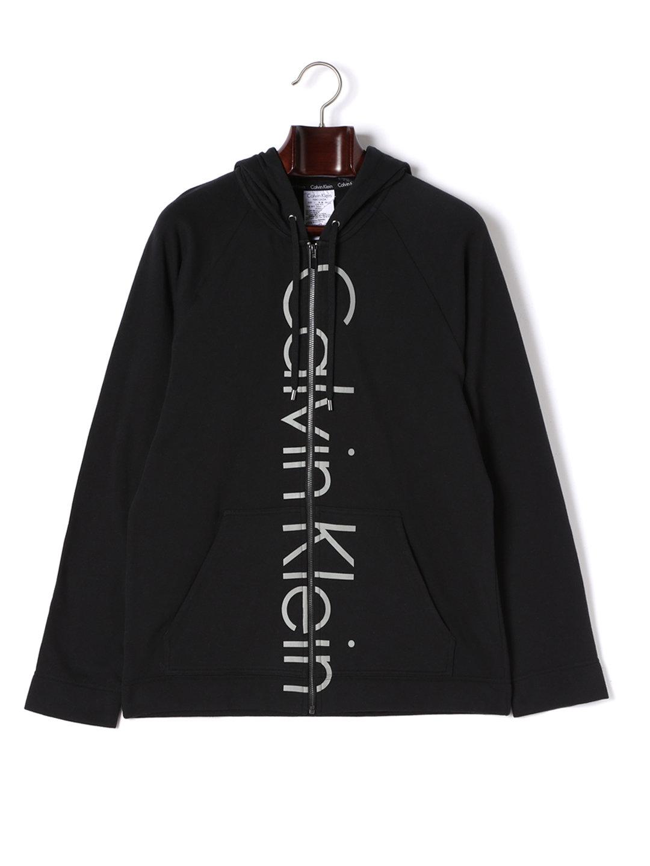 【30%OFF】Calvin Klein Soft Sleep ジップアップ パーカ ブラック 3 ファッション > メンズウエア~~その他トップス