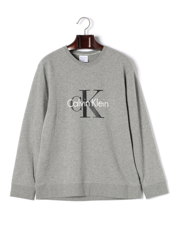 【30%OFF】Calvin Klein Origins クルーネック 長袖プルオーバー グレー 4 ファッション > メンズウエア~~その他トップス