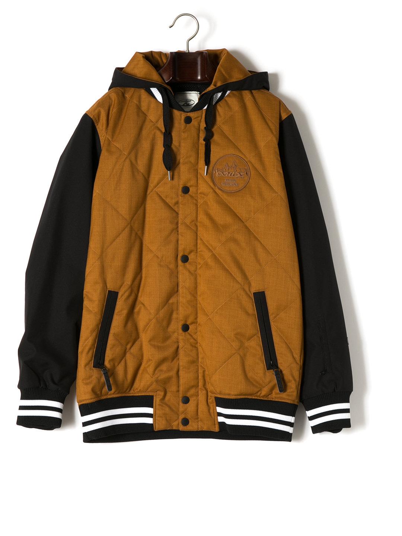 【55%OFF】AWARD 中わた フーデッド キルティング ジャケット キャメル s ファッション > メンズウエア~~ジャケット
