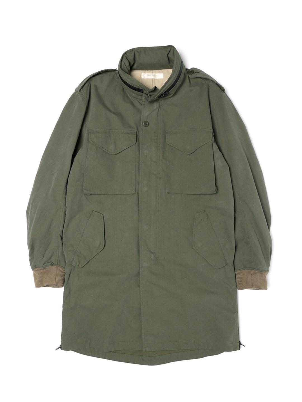 【71%OFF】2WAYフード スタンドカラー アーミーコート カーキ 3 ファッション > メンズウエア~~ジャケット