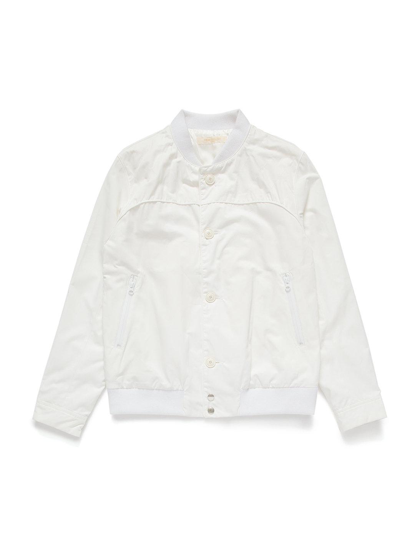 【72%OFF】スタンドカラー ジップポケット ボタンジャケット ホワイト 3 ファッション > メンズウエア~~ジャケット