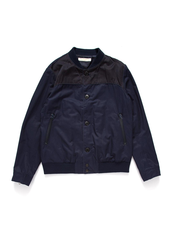 【72%OFF】スタンドカラー ジップポケット ボタンジャケット ネイビー 3 ファッション > メンズウエア~~ジャケット