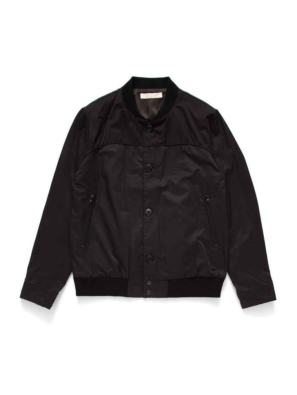 【72%OFF】スタンドカラー ジップポケット ボタンジャケット ブラック 5 ファッション > メンズウエア~~ジャケット