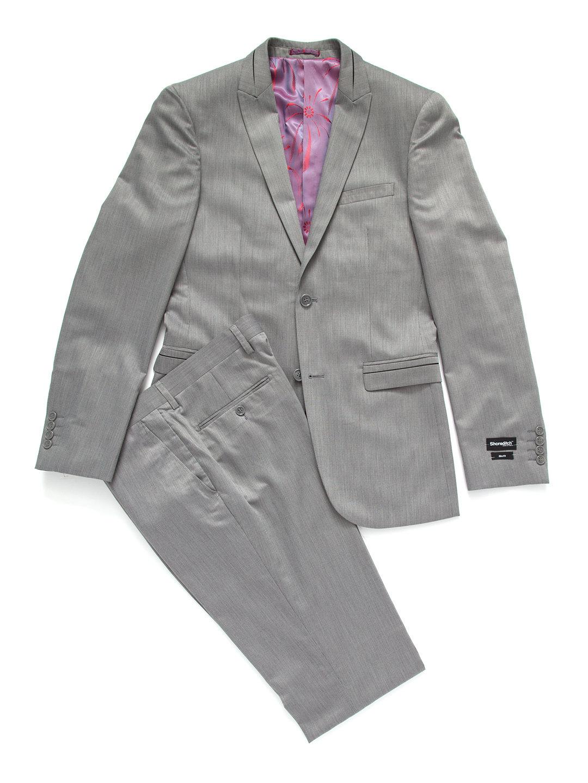 【80%OFF】ピークドラペル スーツ グレー 36 ファッション > メンズウエア~~スーツ