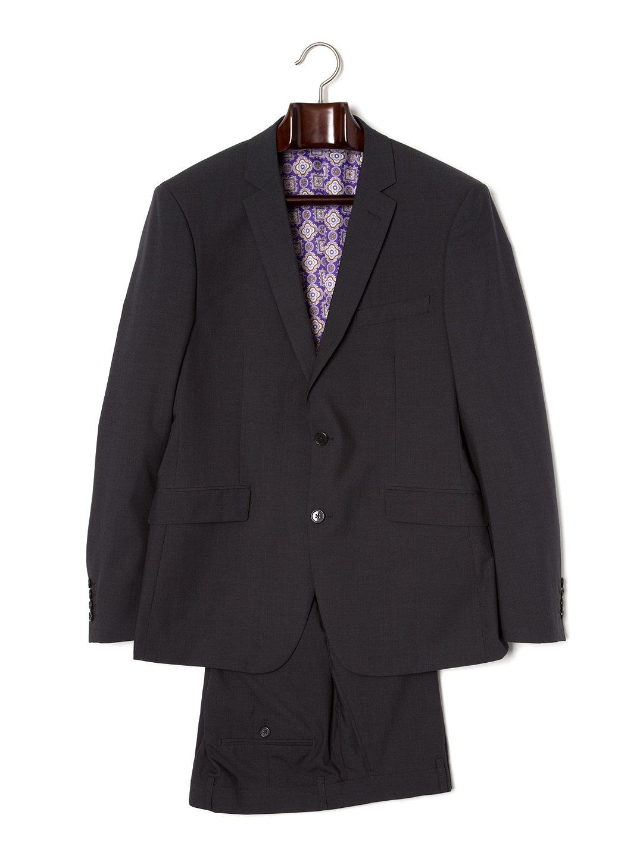 【80%OFF】ノッチドラペル スーツ ダークチャコール 40 ファッション > メンズウエア~~スーツ