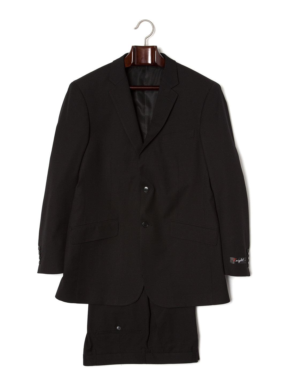 【80%OFF】ノッチドラペル スーツ プレーンブラック 42 ファッション > メンズウエア~~スーツ