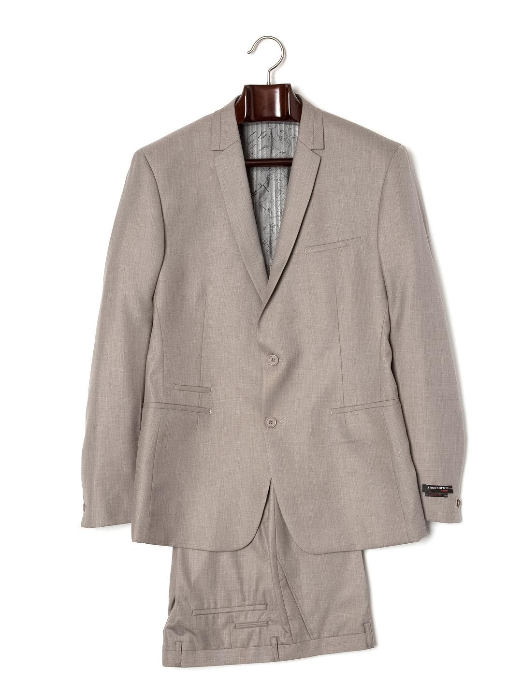 【80%OFF】デザインノッチドラペル スーツ ベージュ 40 ファッション > メンズウエア~~スーツ
