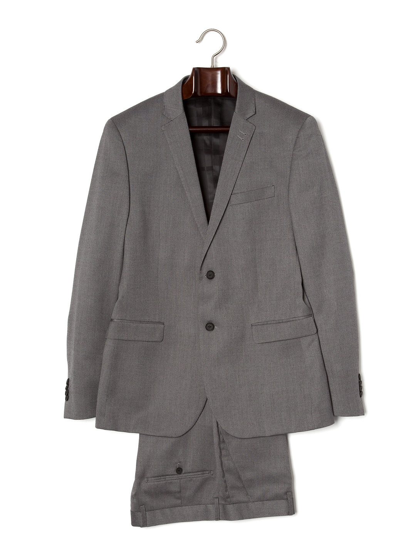 【80%OFF】ノッチドラペル スーツ グレーストライプ 42 ファッション > メンズウエア~~スーツ