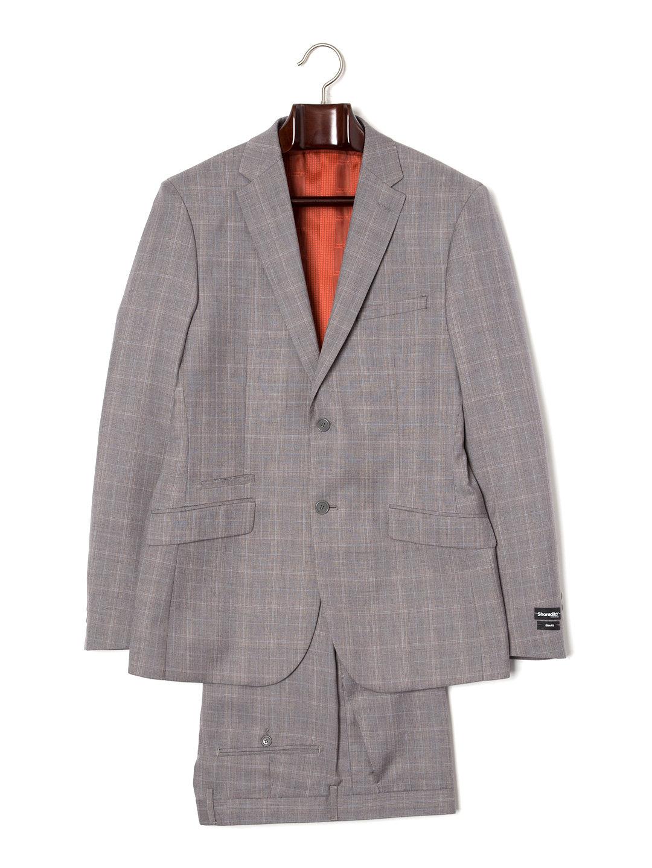 【80%OFF】チェック ノッチドラペル スーツ ライトグレーチェック 38 ファッション > メンズウエア~~スーツ