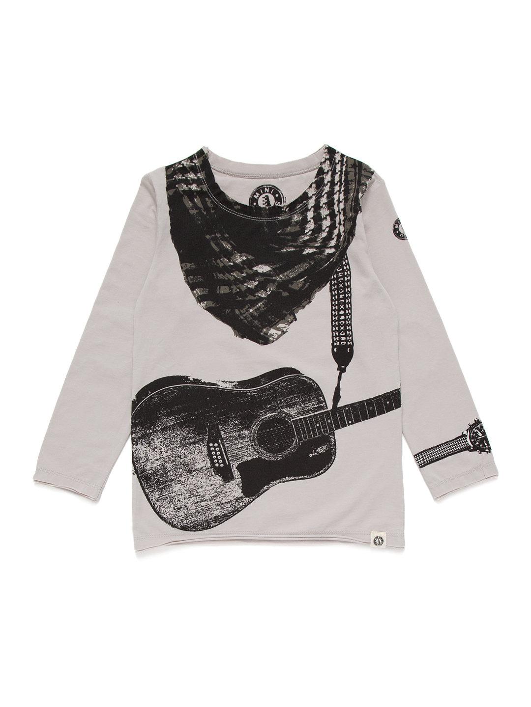 【52%OFF】ギター&スカーフプリント 長袖トップ グレー 3t ベビー用品 > 衣服~~ベビー服