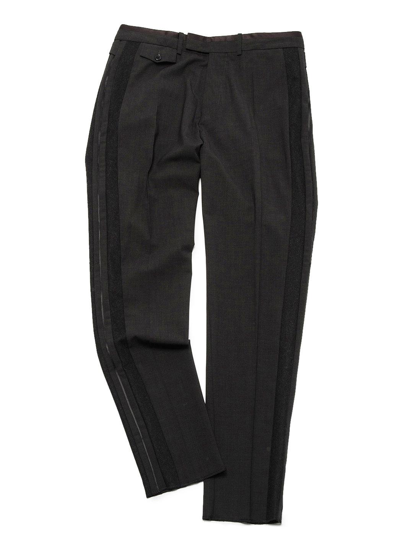 【70%OFF】側章 サイドベルト センタープレス パンツ チャコールグレー 48 ファッション > メンズウエア~~パンツ