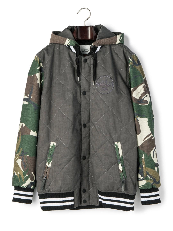 【60%OFF】AWARD 中わた フーデッド キルティング ジャケット グレー s ファッション > メンズウエア~~ジャケット