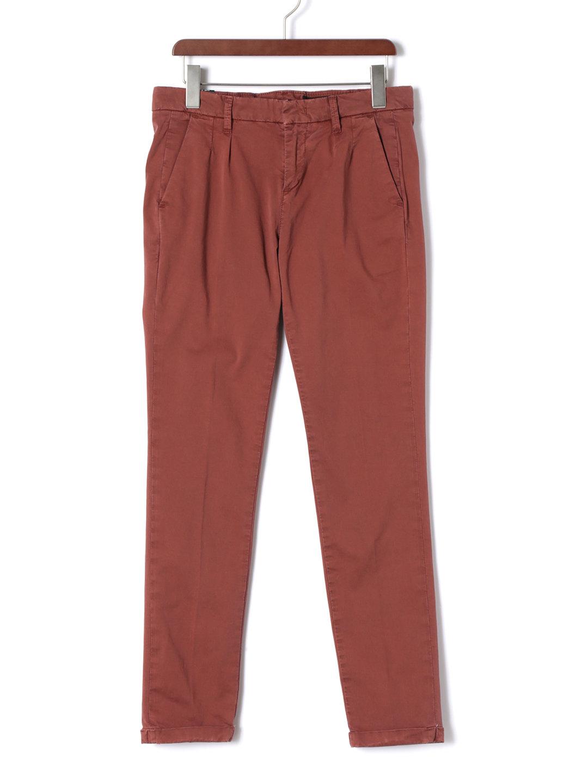 【70%OFF】MAKOTO COTTON ツータック テーパードパンツ レッド 30 ファッション > メンズウエア~~パンツ