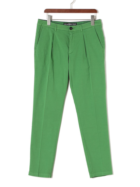 【70%OFF】タック クロップド カラーパンツ グリーン 30 ファッション > メンズウエア~~パンツ