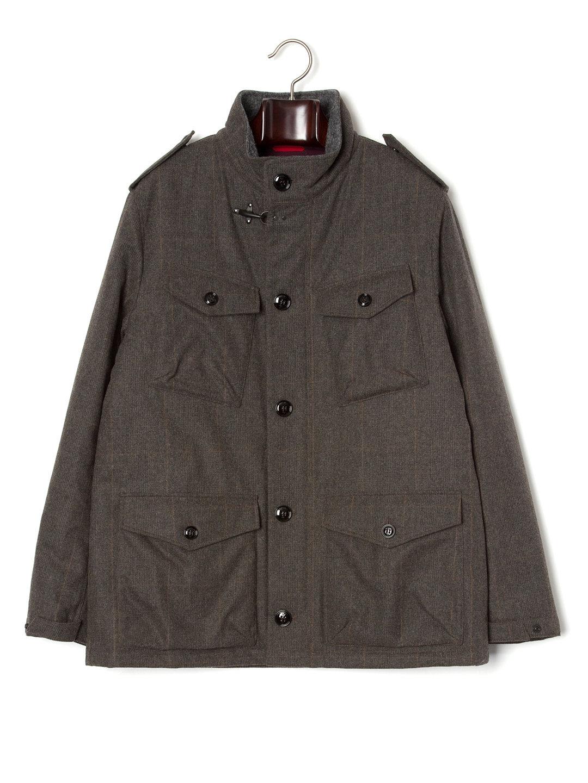 【70%OFF】中綿入 チェック M65ジャケット カーキ m ファッション > メンズウエア~~ジャケット