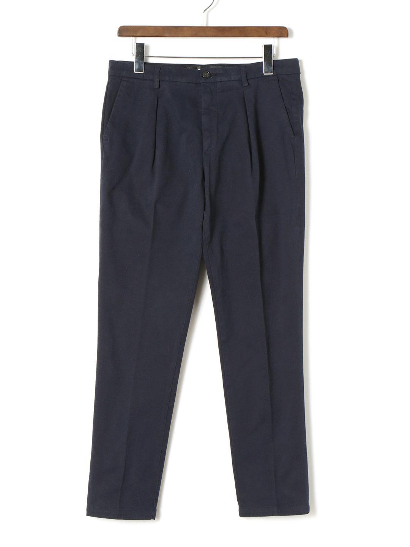 【70%OFF】ワンタック センタープレス パンツ ネイビー 29 ファッション > メンズウエア~~パンツ