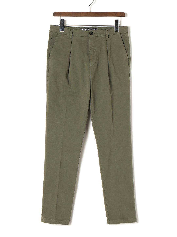 【70%OFF】ワンタック センタープレス パンツ カーキ 34 ファッション > メンズウエア~~パンツ