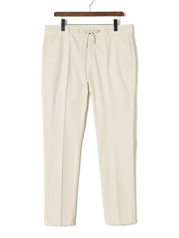 【70%OFF】ドローコードウエスト ノータック センタープレス パンツ ホワイト 33 ファッション > メンズウエア~~パンツ