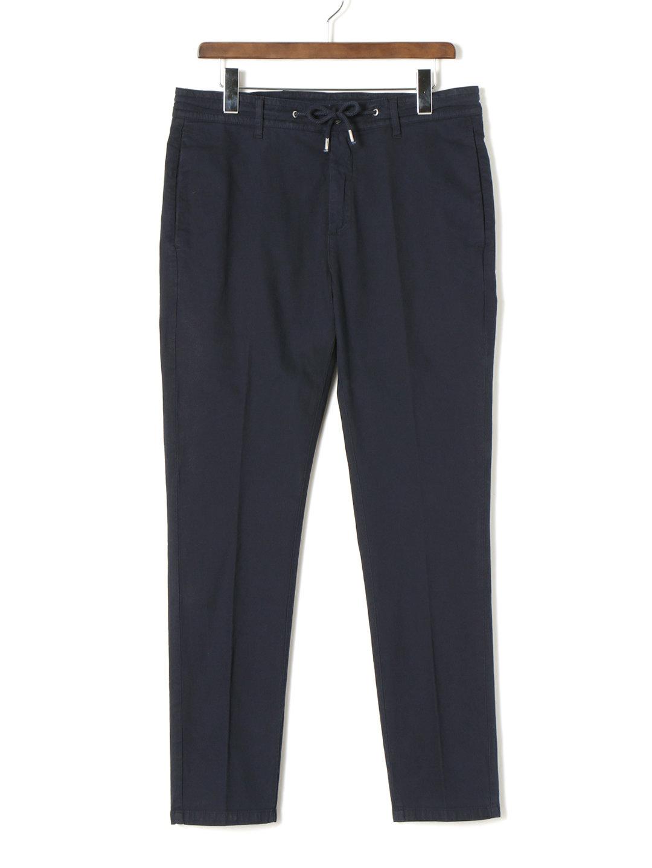 【70%OFF】ドローコードウエスト ノータック センタープレス パンツ ネイビー 31 ファッション > メンズウエア~~パンツ
