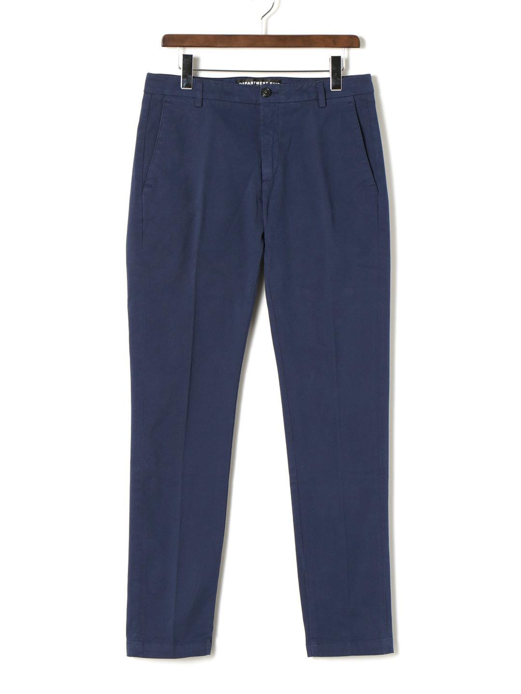 【70%OFF】ノータック センタープレス パンツ ブルー 29 ファッション > メンズウエア~~パンツ