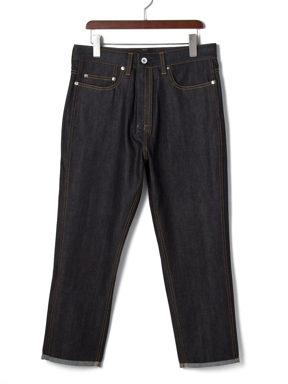 【52%OFF】Precious クロップド サルエルデニム インディゴ 31 ファッション > メンズウエア~~パンツ