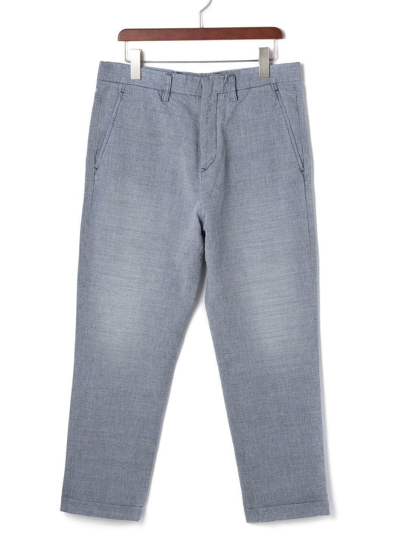 【65%OFF】ウォッシュ加工 クロップド サルエルデニム インディゴ 28 ファッション > メンズウエア~~パンツ