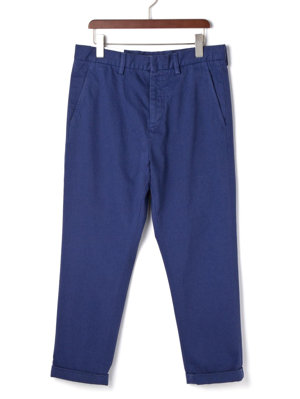 【62%OFF】クロップド サルエル カラーデニム ブルー 28 ファッション > メンズウエア~~パンツ