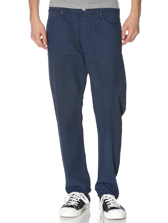 【80%OFF】シンチバック サルエル カラーデニム ブルー 29 ファッション > メンズウエア~~パンツ