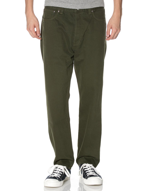 【78%OFF】シンチバック サルエル カラーデニム カーキ 33 ファッション > メンズウエア~~パンツ