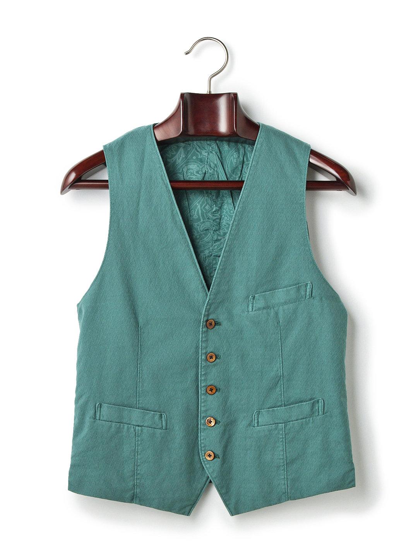 【80%OFF】ANGLAIS 箱ポケット ジレ グリーン m ファッション > メンズウエア~~スーツ