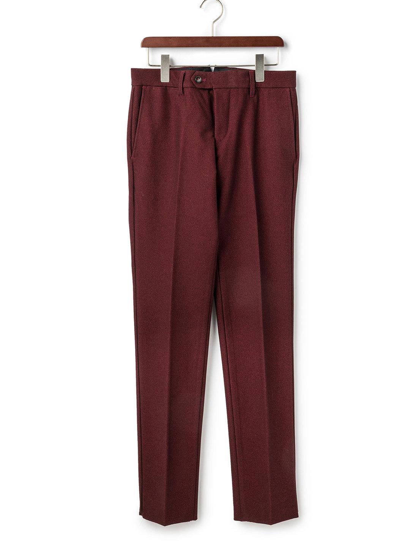 【80%OFF】フロントタブ センタープレス パンツ レッド 30 ファッション > メンズウエア~~パンツ