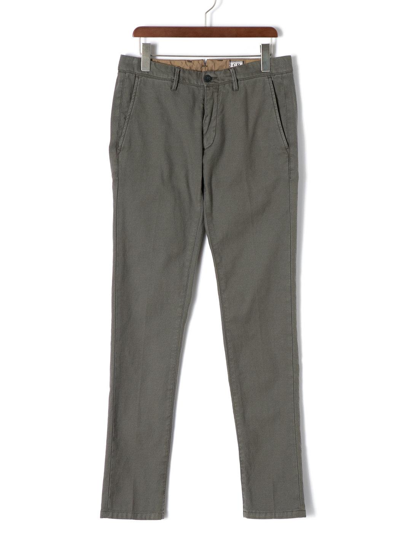 【50%OFF】オーバーダイ スリム カラーパンツ アッシュグレー 50 ファッション > メンズウエア~~パンツ