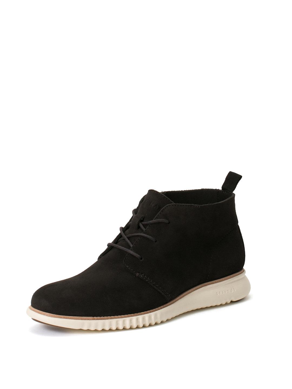 【50%OFF】2.ZEROGRAND CHUKKA スエード チャッカブーツ ミッドナイトグレーxアイボリー 7.5 ファッション > 靴~~メンズシューズ