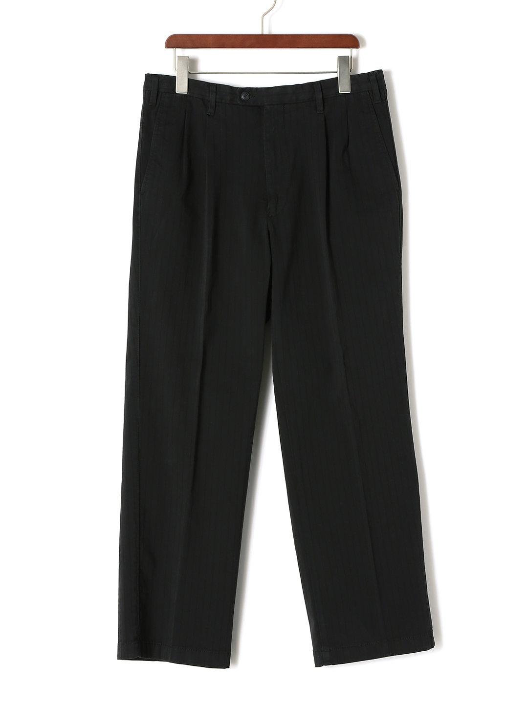 【78%OFF】シャドーストライプ パンツ ブラック 48 ファッション > メンズウエア~~パンツ