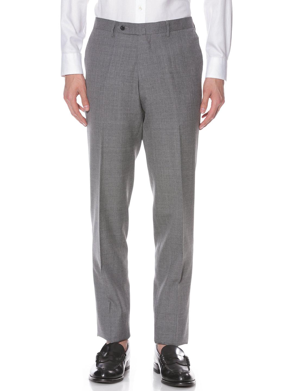 【50%OFF】タブフロント テーパードパンツ グレー 50 ファッション > メンズウエア~~スーツ
