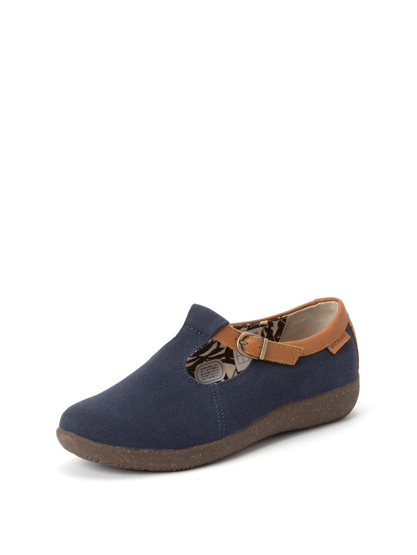 【50%OFF】ブライトウッド ストラップ シューズ ネイビー 5.5 ファッション > 靴~~レディースシューズ