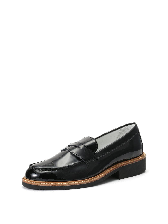 【63%OFF】エナメルレザー ペニーローファー ブラック 35 ファッション > 靴~~レディースシューズ