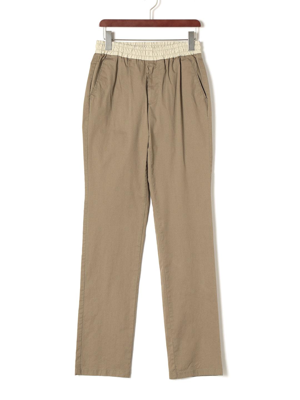 【80%OFF】ウエストシャーリング パンツ ライトブラウン 44 ファッション > メンズウエア~~パンツ